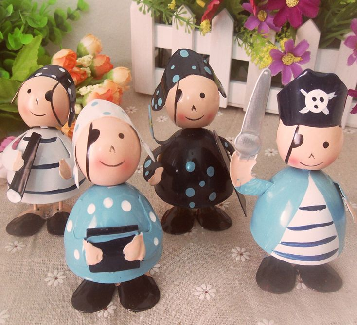 4 Pcs #Funny Pirate Metal #Doll Exquisite #Decorations