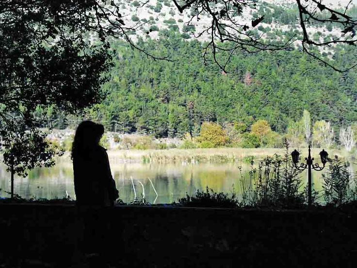 the lake of Ioannina, Greece