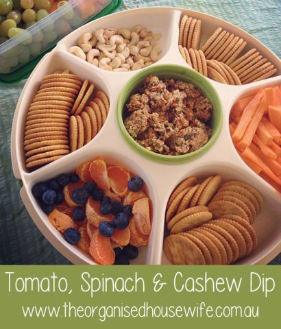 Tomato, spinach & cashew dip : The Organised Housewife : Ideas for organising and Cleaning your home