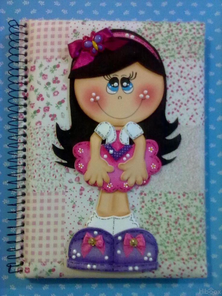 Molde Fofu Coqueta para cuaderno !!
