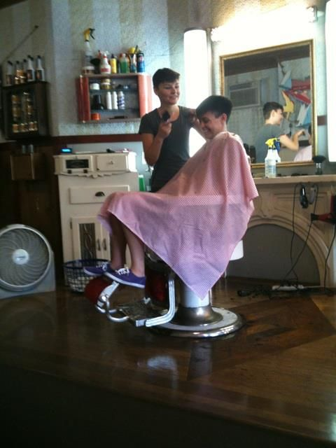 Girls Getting Barbered