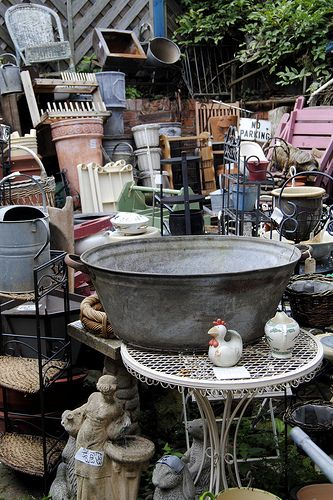I wish we had a space at Curiosity Shop for a junk (treasure) pile - so many great pieces in this picture - I'd love finding upcyle uses for all of it.