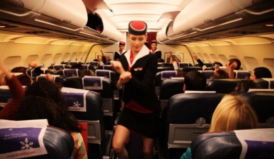 Air Maltas Cabin Crew give out Safety Instructions Gangnam Style