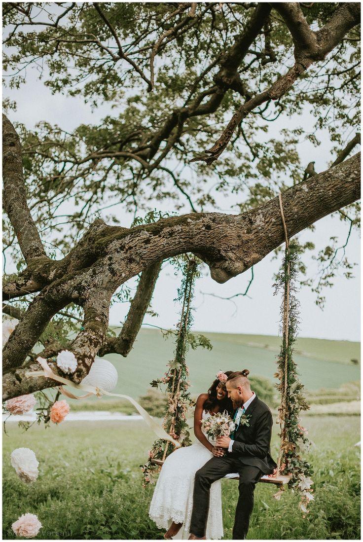 Cwtch Workshop Rosedew Farm South Wales Barn Wedding Photographer Cardiff Laura May Nathan Palmer Dear Florence Walnut Willow Flowers Tree Swing