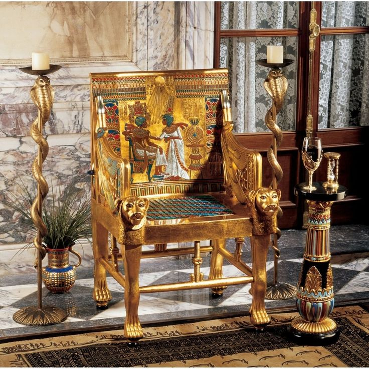 Found it at Wayfair - King Tutankhamen's Egyptian Throne Arm Chair