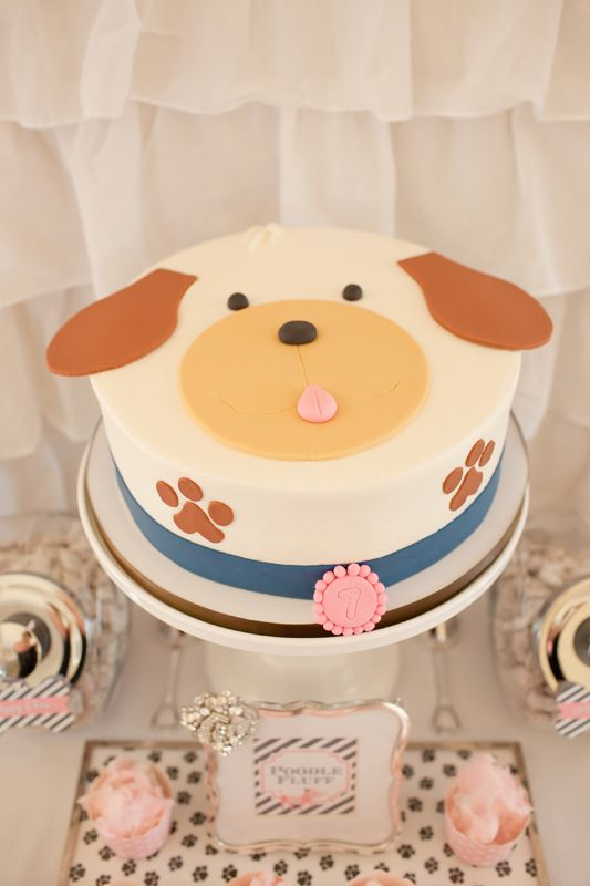 Puppy cake. A Puppy Pawty » Hello Love Designs