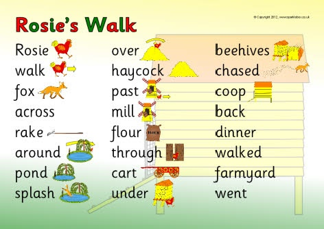 Rosie's Walk word mat