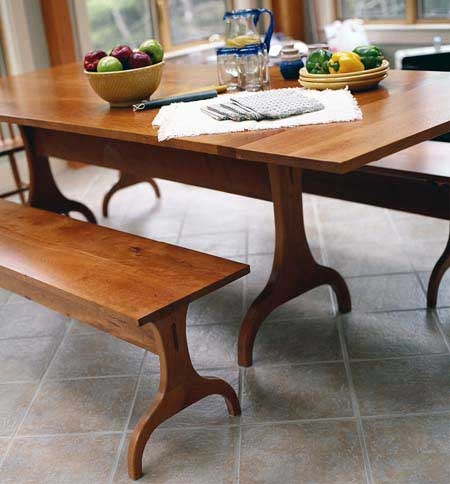 The harvard trestle dining table comes in 3 lengths 5 6 for 7 foot dining room table