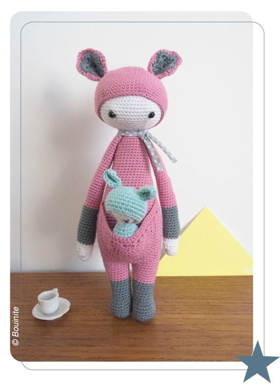 Knitting Pattern For Baby Oleg : KIRA the kangaroo made by Bouinite / crochet pattern by lalylala LALYLALA a...
