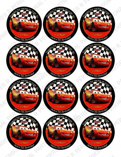 Disney Cars  Personalized Stickers Cupcake Toppers Seals | PartiesRPersonal - Children's on ArtFire