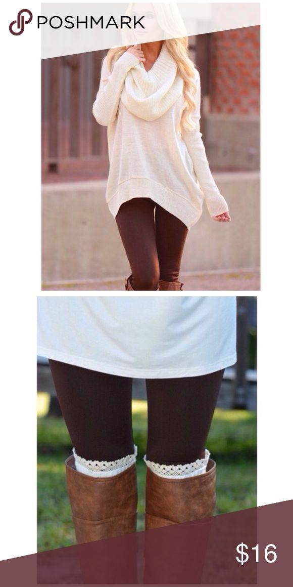 Brown Fleece Leggings Tummy Tuck High Waist High waist fleece leggings with tummy tuck control. Comes in Wine, Black, Grey, Brown & Green. View our listings for other colors. This listing is for Brown. Pants Leggings