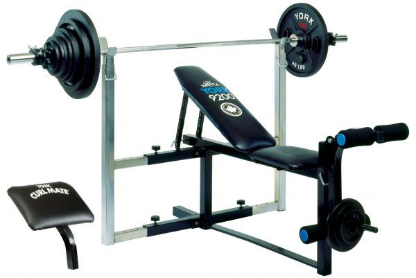 York Barbell 9200 Expandable Bench Home Gym Equipment No Equipment Workout Gym Home Gym