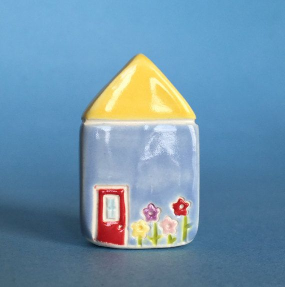 Little flower House Collectible Ceramic by thelittlereddoor