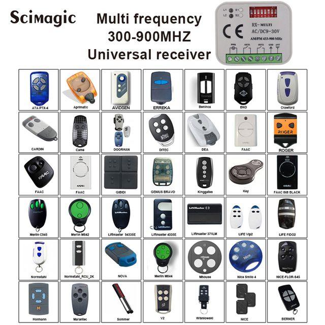 Multi Frequency 280 868mhz Beninca Ditec Faac Came Doorhan Hormann Sommer Universal Garage Door Re Garage Door Remote Control Garage Door Remote Remote Control