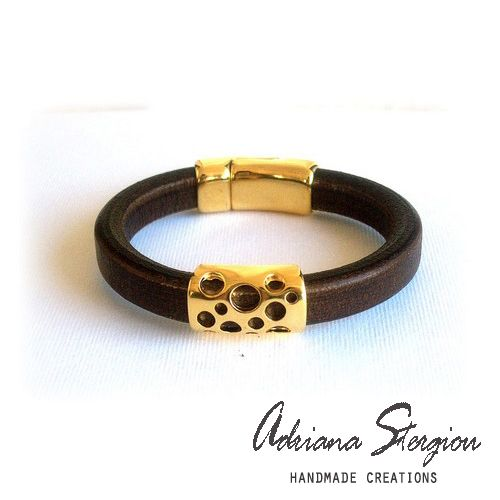 Leather regalize bracelet www.jewelmyday.gr www.jewelmyday.eu #handmade #accessories #fashion #jewelry #bracelet