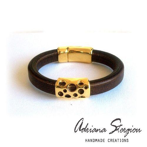 Leather regalize bracelet www.jewelmyday.gr www.jewelmyday.eu #handmade #accessories #fashion #jewelry #bracelet