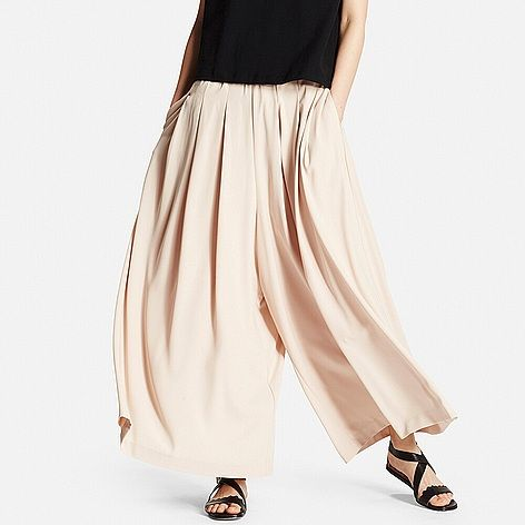 Uniqlo 'skirt trousers' as they call them. These Pink culottes would look fab with ankle boots too.
