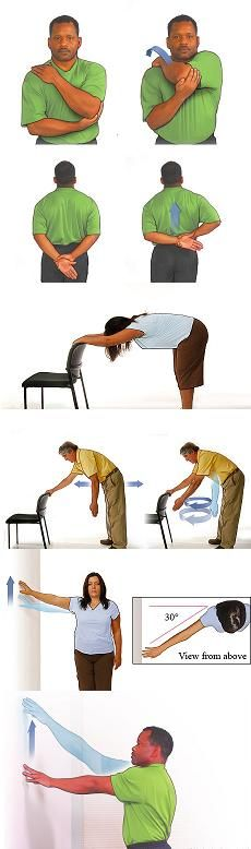 Rotator cuff stretching exercises - http://www.webmd.com/a-to-z-guides/rotator-cuff-home-rehabilitation-exercises#