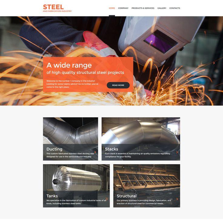 Welding Bootstrap Website Template Small Screenshot 130