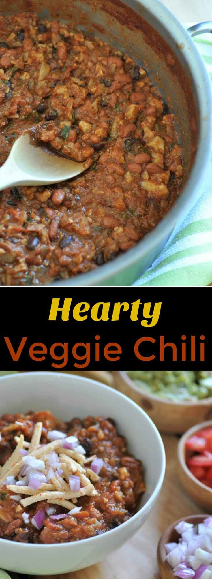 Hearty and meaty vegan chili that will satisfy mea…