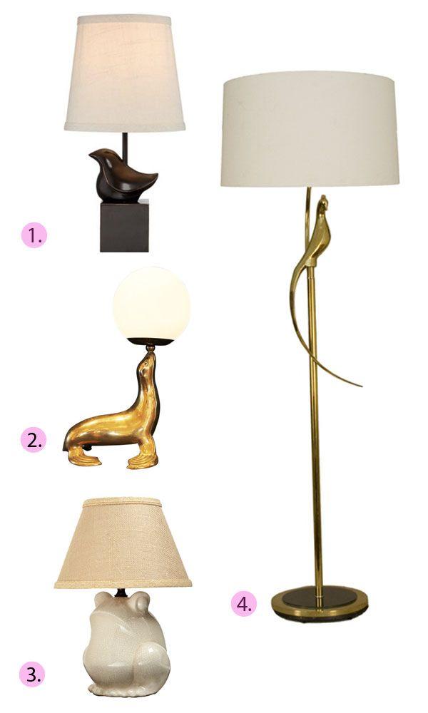 Frog lamp. Too cute.    Emily Henderson — Stylist - BLOGFloor Lamps, Animal Lamps, Emily Schoenfeld, Animal Light, Henderson Stylists, Blog, Lamps Roundup, Frogs Lamps, Emily Henderson