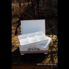 łowicka szkatułka na biżuterię z przegródkami! :)
