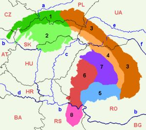 Divisions of the Carpathians - Wikipedia