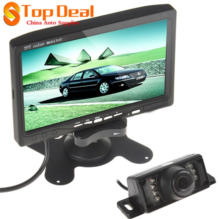 7 Inch Color Tft LCD Car Rear View DVD VCR Monitor Parking Rearview Camera 2 Video Input with 7IR LED Lights Car Reverse Camera