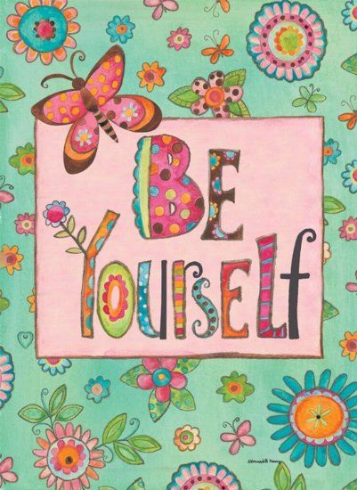Find This Pin And More On Butterfly Yard Art By MyButterflyLady. Be  Yourself Mini Garden Flag ...