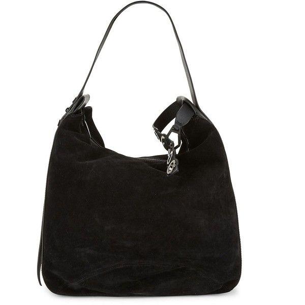 KENDALL + KYLIE Suede Shoulder Bag (£225) ❤ liked on Polyvore featuring bags, handbags, shoulder bags, deep wine, wine handbag, grommet handbags, shoulder strap bags, suede purse and suede handbags