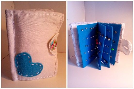 Earring holder book