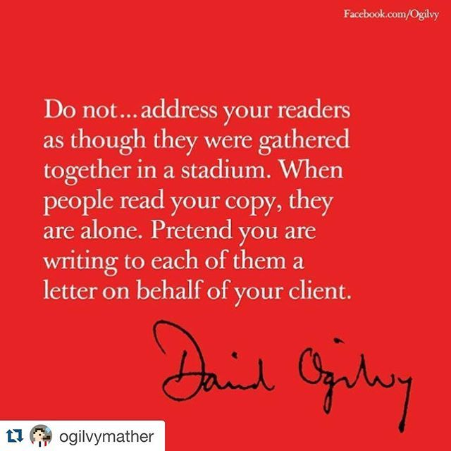 Let the Godfather of Advertising speak  #advertising #davidogilvy #speak #personal #smile