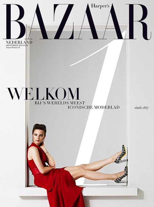cool Harper's Bazaar Netherlands September 2014 | Anna De Rijk [Covers]