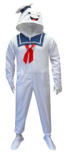 I'd wear it - Ghost Busters Stay Puft Marshmallow Man Adult Footie Onesie Pajamas Medium WebUndies