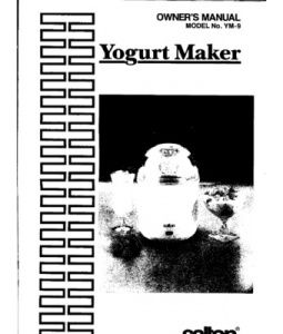 Salton Yogurt Maker YM9 Manual