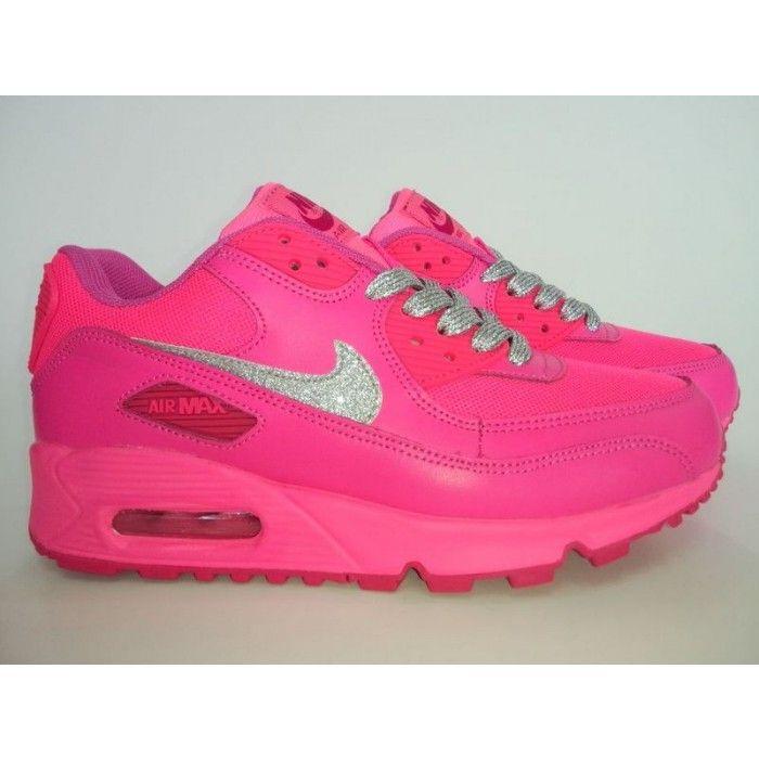 womens nike air max 90 green pink