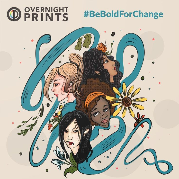 Be Bold for Change! Happy International Women's Day from Overnight Prints! Print you feminist posters with us!