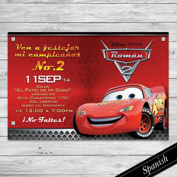 Cars Invitacion Cars Espa 241 Ol Cars Invitation Spanish