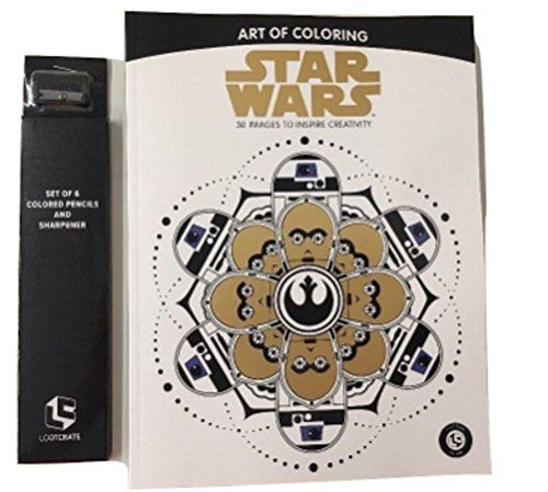 Star Wars Adult Coloring Book and Colored Pencils
