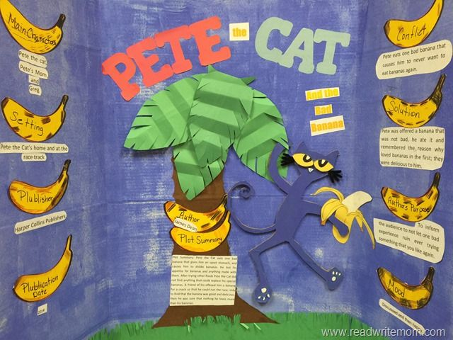 Pete the Cat reading fair project board.
