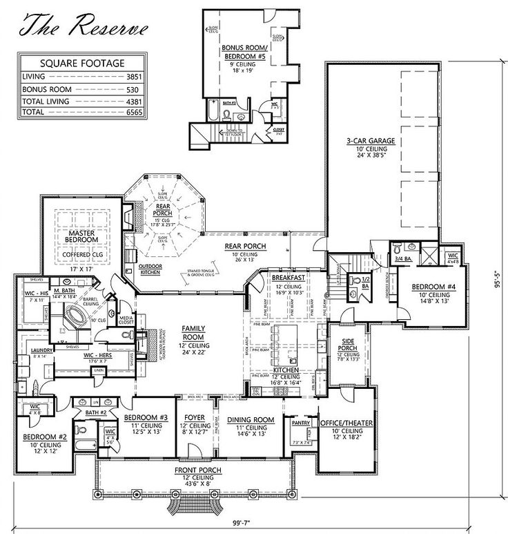 Acadian Style Open Floor House Plans
