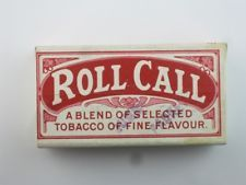 26488 Old Antique Cigarette Pipe Tobacco Box Packet Dummy Players Roll Call