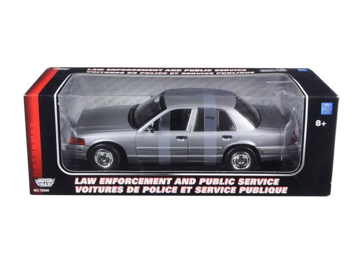 Ford Crown Victoria Police Undercover Special Service Car Silver 1/18 Diecast Model Car by Motormax