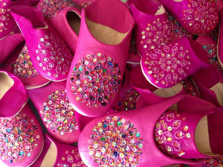 Look what just arrived from Morocco! Pink & Sparkly, One Earth Babouche Slippers, all ethically made by hand. Contact me   To Be a Consultant or Have a Party.