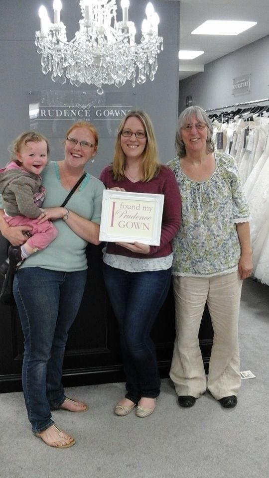 Our new #bride Naomi found her #weddingdress in our #Exeter store today. YAY! #DressingYourDreams #PrudenceGowns