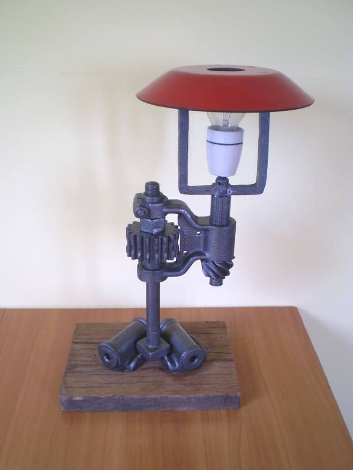 Industrial lamp. See more my work:  https://www.facebook.com/OGNIK-kowalstwo-artystyczne-Szalowa-1536036913329982/?ref=hl  Lampka industrialna.