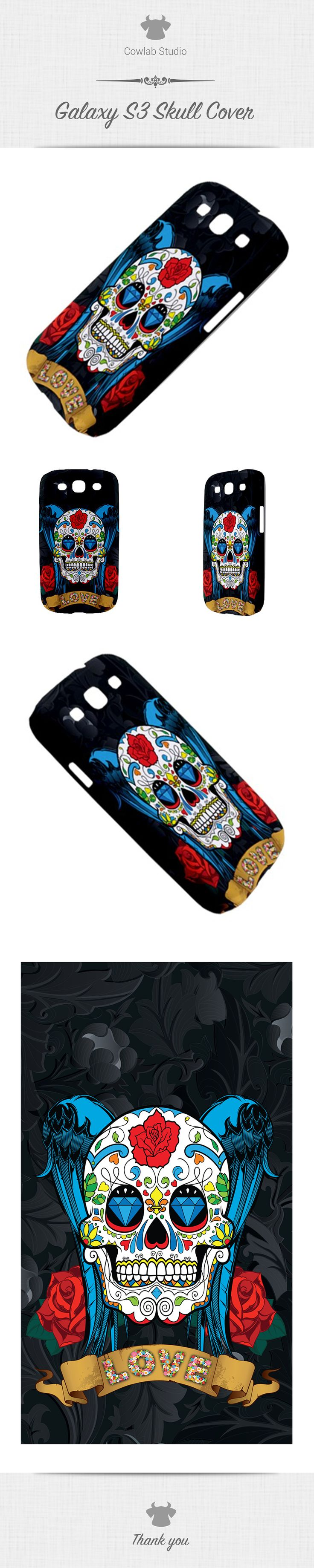 Samsung Galaxy S3 Skull back cover