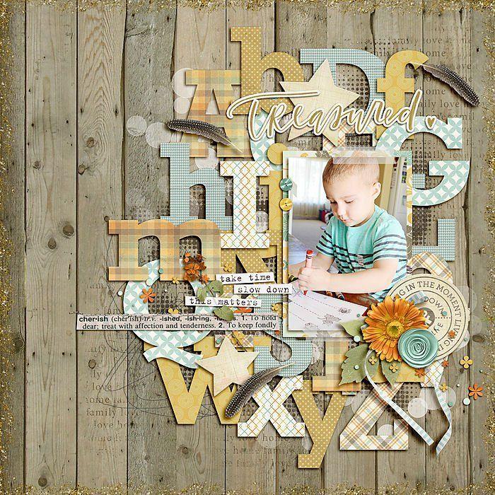 First Day of Preschool - Scrapbook.com #scrapbooklayouts