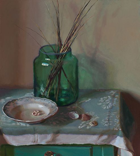 Glass and Shells by Lea Wight Oil ~ 20 x 18