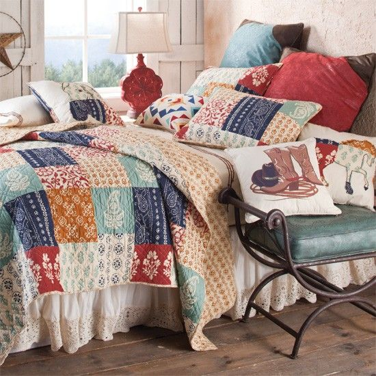 Vampire Bedroom Decor Ranch Bedroom Decor Bedroom Set Designs Built In Bedroom Cupboards Images: Jasmine Ranch Quilted Bedding